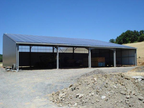 Hangar solaire 720m2 100kWc Tarn