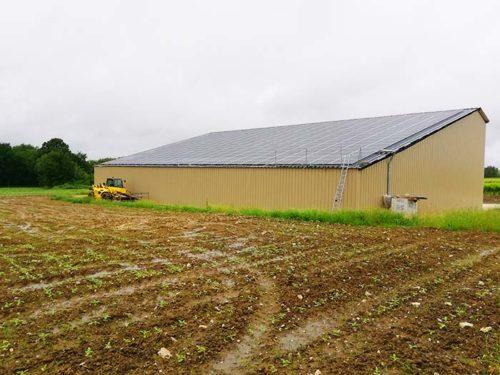 Hangar solaire 720m2 100kWc Charente Maritime Elyor group
