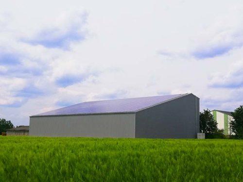 Hangar solaire 720m2 100kWc La Mayenne Elyor group
