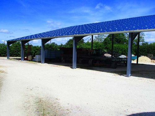 Hangar solaire 720m2 100kwc Charente-Maritime Elyor group