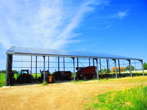 Hangar solaire 720m2 100kwc Indre-et-Loire Elyor group