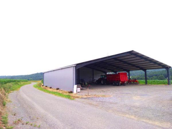 Hangar solaire 600m2 100kWc Occitanie Elyor group